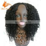 Glueless U Part Human Hair Wigs Virgin Peruvian Kinky Curlyl Upart Wig U Shape None Lace Wigs For Black Women