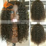 180 Density Full Lace Wig Brazilian Virgin Hair Afro Kinky Curly Full Lace Wigs With Bangs