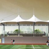Membrane Tensile Sport Facilities Light Weight Flexible Structure