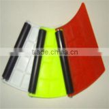 Banner squeegee with cusion or rubber roller