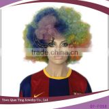 cheap colorful natural large afro wigs men