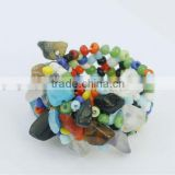 Mix Chip stone Stretch Seed Glass beads Ring