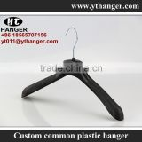 IMY-492 black cheap plastic hangers wholesale chrome