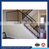 Aluminum Wood Grain Railings Interior Stairs Railing Designs