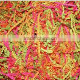Summer Colors Tissue paper shreds for Wedding/Easter/New Year Gift Box or Foods Decorate