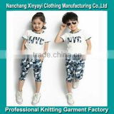 Kids Clothes T-Shirt and Shorts With Printed Manufacturing Made in China