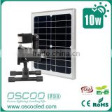 5Years Quality Guarantee ip65 bridgelux battery power solar sensor rechargeable 10w led floodlight