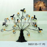 halloween tree decorative metal wall art with bat