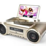 gangnam style new fashion handle karaoke singing machine with portable dvd player with USB SD MMC gifts with 2 micphone for free