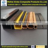 Fiberglass square pultrusion fabric tube price with light weight and high strength