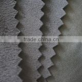 soft hand-feeling elastic PU ,PU suede leather ,suede PU leather for manufacturing garments