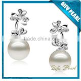 925 Sterling Silver Latest Design Of Pearl Earrings and Findings