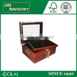 Hot Sale Solid Wood Coin Box Medal Storage coin Box