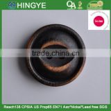 Sedex Audited Factory 2 Pillar Old tarnished Fish Eye Shape Hole Wooden Button