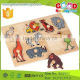 wholesale wooden animal plywood puzzle with ce certification for children