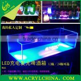 2015 customized Acrylic LED ice bucket,bar supplies