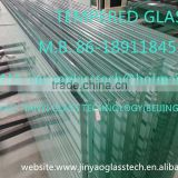 2015 BEIJING CHINA factory price new style tempered high quality building decorative clear 12mm tempered glass