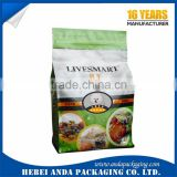 Pet food plastic bags with own logo/ stand up zip lock bags for dog food packing materials