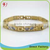 Copper/brass tanishq new fashion gold plated cuff diamond womens friendship bracelet bangles designs