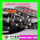 flexible 5050 led strip IC ws2811/ws2812b/ws2801/lpd8806 led strip addressable dmx led strip