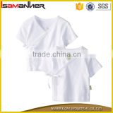 Maunfacture baby kimono white tops plain blank baby clothes clothing                                                                                                         Supplier's Choice