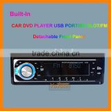 One Din Detachable Front Panel CAR DVD/CD/MP3/USB/SD CARD AM/FM PLAYER+AUX INPUT