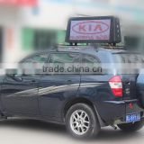 Hot p6mm outdoor advertising taxi top led display