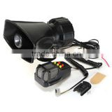 12V 5 SOUND CAR WARNING ALARM SIREN HORN PA SPEAKER SYSTEM AMPLIFIER MIC US NEW Motor