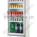 208L 228L Upright Glass Door Showcase Refrigerator/ Vertical Showcase/Beer Cooler with CE