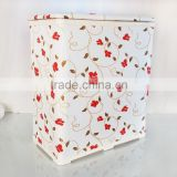 Textile Polyester fabric Square bathroom foldable hamper/water-proof knock-down laundry hamper