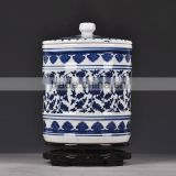 2016 Jingdezhen handpainted Antique blue and white ceramic ginger jar for crafts &arts