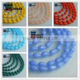 Wholesale High Quality 8*11mm Pendants Crystal Blue Jade AB Plating Teardrop Charm Beads