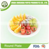 Customized SGS FDA water-proof food tray sugarcane bagasse paper cup plate