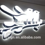 Front-lit Stainless Steel LED Letter Sign and LED Resin Wall Letter Customize Advertising