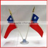 Promotional feather double flags,country flag with one sucker,table flag