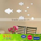 Home Decoration Small Fish Pattern Wall Acrylic Mirror Sheet Wall Art Stickers Decals                                                                         Quality Choice