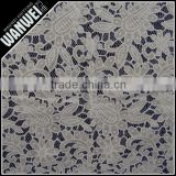 7 Discount High Quality White nylon polyester flower pattern lace for women dress/curtain 3115
