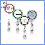 high quality hot sale magnetic badge reels, novelty metal badge reel, carabiner badge reel