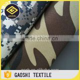 China Manufacturer 600D Polyester Camoflage Printed Qxford Vehicle Tools Bag Fabric With PVC Backing