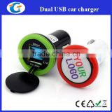 dual usb car <b>charger</b> <b>business</b> anniversary gifts with custom epoxy sticker