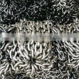 China link chain(factory),galvanized link chain,galvanized chain link fence (with barbed arms)