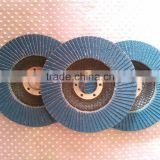100mm Blue Zirconia Flap Disc with fiber glass