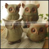High quality Decoration Owl bird resin figurine/Custom small animal resin figurines/OEM resin figurines Shenzhen manufacturer