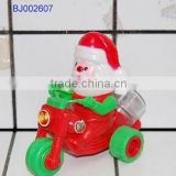 Funny toy Christmas santa friction pull back motorcycle