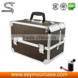 cosmetics beautician beauty make suitcase/cosmetics makeup pvc professional suitcase/cosmetic case