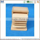 factory supply handmade natural pine wooden coaster for restaurant usage
