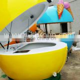 wholesale ice cream van for sale fiberglass kiosk/food vending truck/mall kiosk design