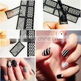 Reusable Stamping Tool DIY Nail Art Hollow Template Stickers Stamp Stencil sticker