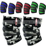 camoflauge cross fit training knee wraps /Elastic Material Titanium Ultimate Power Weight Lifting Knee WrapS