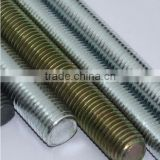 DIN975 thread rods high quality blue zinc plated manufacturer tensile strength g.i threaded rod m24